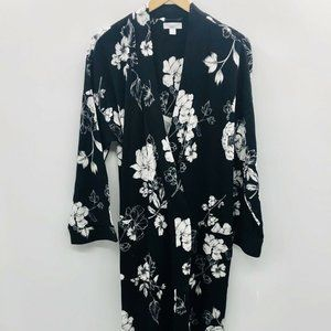 Charter Club Large Dramatic Floral Robe *FLAW*